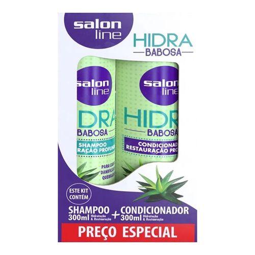 Kit Salon Line Shampoo 300ml + Condicionador Hidra Babosa 300ml