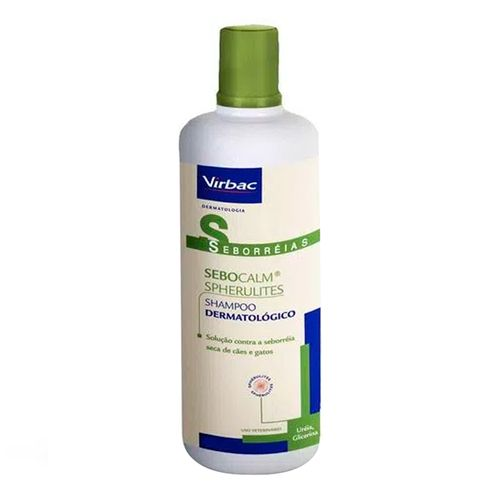 Shampoo Dermatológico Sebocalm Spherulites Virbac - SEBOCALM SPHERULITES SHAMPOO - frasco com 250ml
