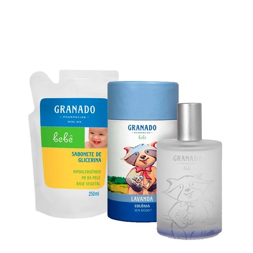 Kit-Granado-Bebe-Colonia-Lavanda-100ml---Sabonete-Liquido-Tradicional-Refil-250ml-Pacheco-935138009