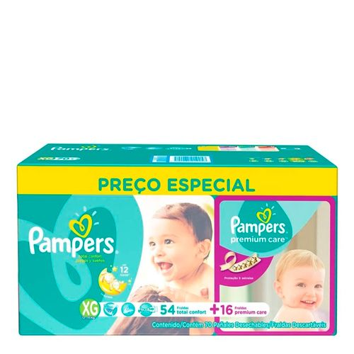 560006---kit-fralda-descartavel-pampers-total-fort-xg-54-unidades-premium-care-xg-16-unidades