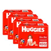 935137950---Kit-Fralda-Huggies-Supreme-Care-XG-52-Unidades-4-Pacotes