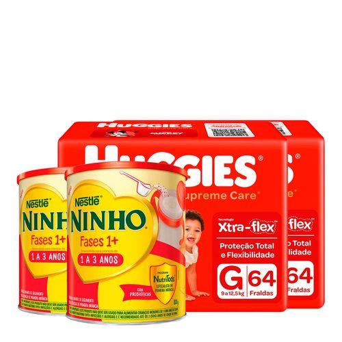 935138226---Kit-Fralda-Huggies-Supreme-Care-G-64-Unidades-2-Pacotes---Formula-Infantil-Nestle-Ninho-Fases-1--800g-Lata-2-Unidades