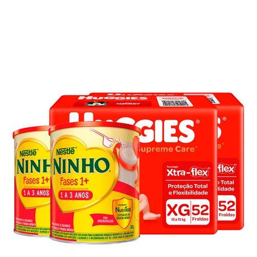 935138227---Kit-Fralda-Huggies-Supreme-Care-XG-52-Unidades-2-Pacotes---Formula-Infantil-Nestle-Ninho-Fases-1--800g-Lata-2-Unidades