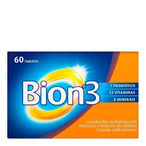 Multivitamínico com Probiótico Bion3 Adultos 60 Tabletes