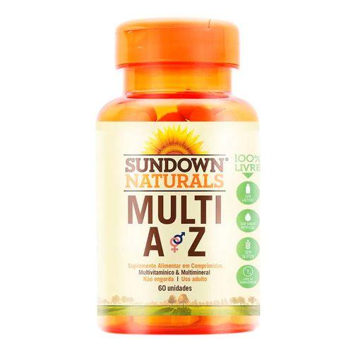 Multivitamínico Sundown Naturals Multi A-Z 60 Comprimidos
