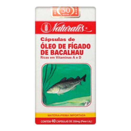 Óleo de Fígado de Bacalhau Naturalis 40 Cápsulas