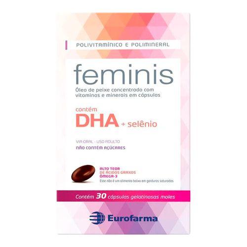 Polivitamínico Feminis Eurofarma 30 Cápsulas