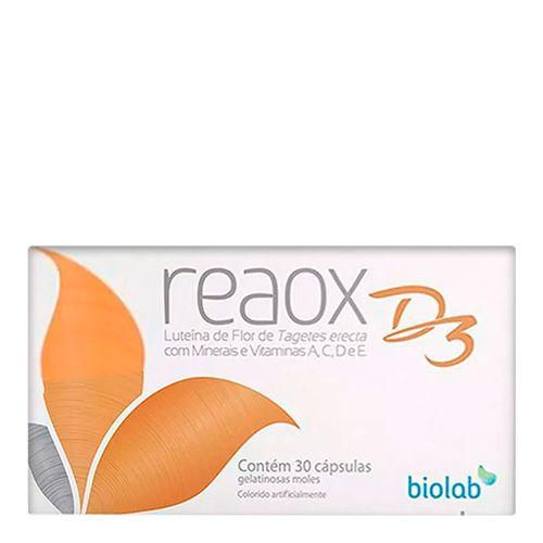 Reaox D3 Biolab 30 Cápsulas