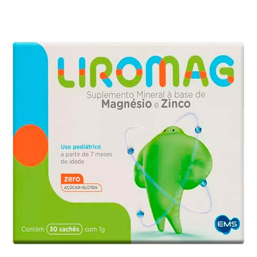 Suplemento Infantil Liromag 50+2mg 30 Saches EMS