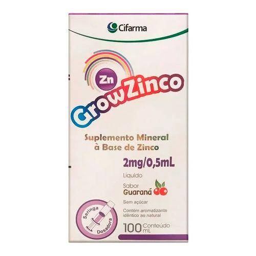 Suplemento Mineral GrowZinco Cifarma 100ml