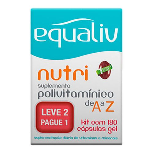 Suplemento Polivitamínico Equaliv Nutri 180 Cápsulas