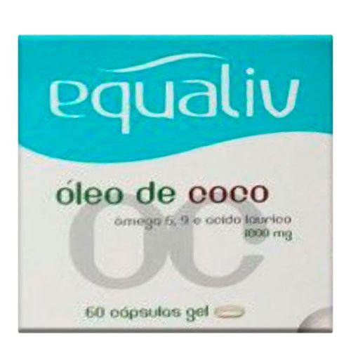 Equaliv Óleo de Côco 60 Cápsulas