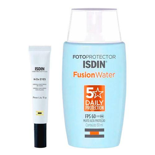 935138365---Kit-Isdin-Protetor-Solar-Facial-Fusion-Water-Oil-Control-FPS60-50ml--Creme-Contorno-Dos-Olhos-K-Ox-Eyes-15g