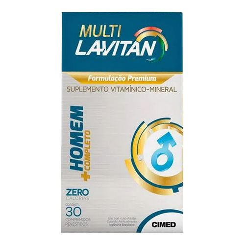 Suplemento Vitamínico Lavitan Multi Homem 30 Comprimidos